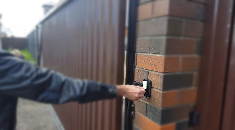 Откатные ворота RFID